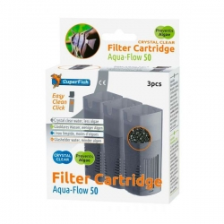 SUPERFISH Filter Cartridge Crystal Clear pour Aqua Flow 50