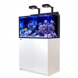 Aquarium RED SEA Max E 260 LED + Meuble blanc + Eclairage ReefLED. Sac de sel RED SEA Salt 7 kg OFFERT.