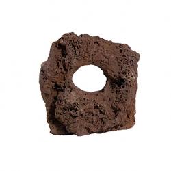 AQUA DECO Carved Lava Roche de lave troué - 10 à 15 cm - Vendue à l'unité