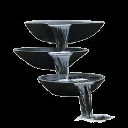 Cascade et lame d'eau pour bassin